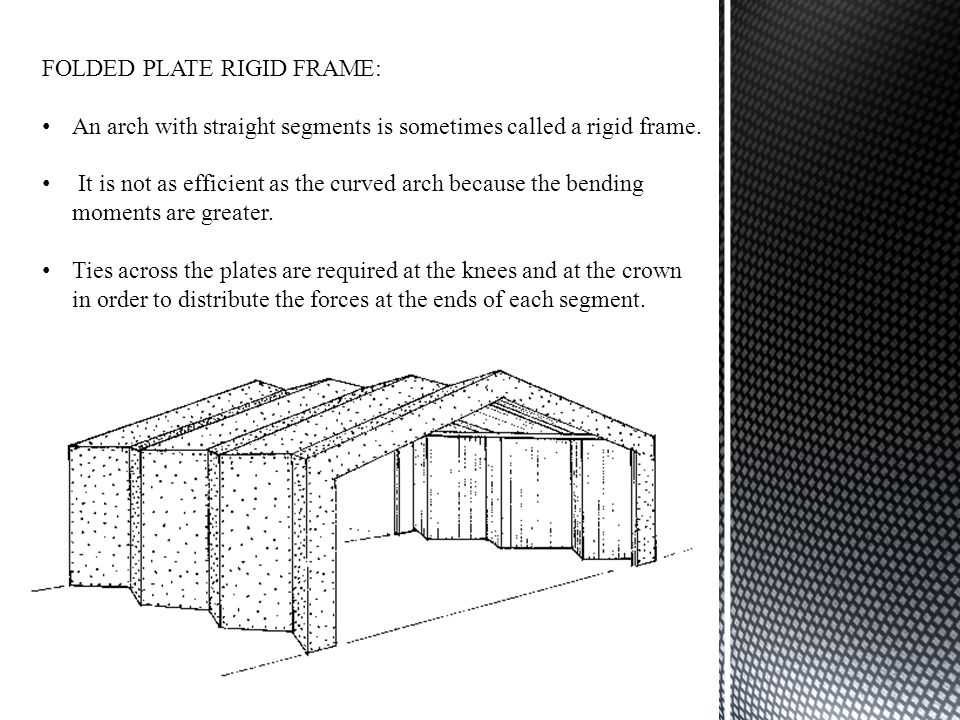 FOLDED PLATE RIGID FRAME:
