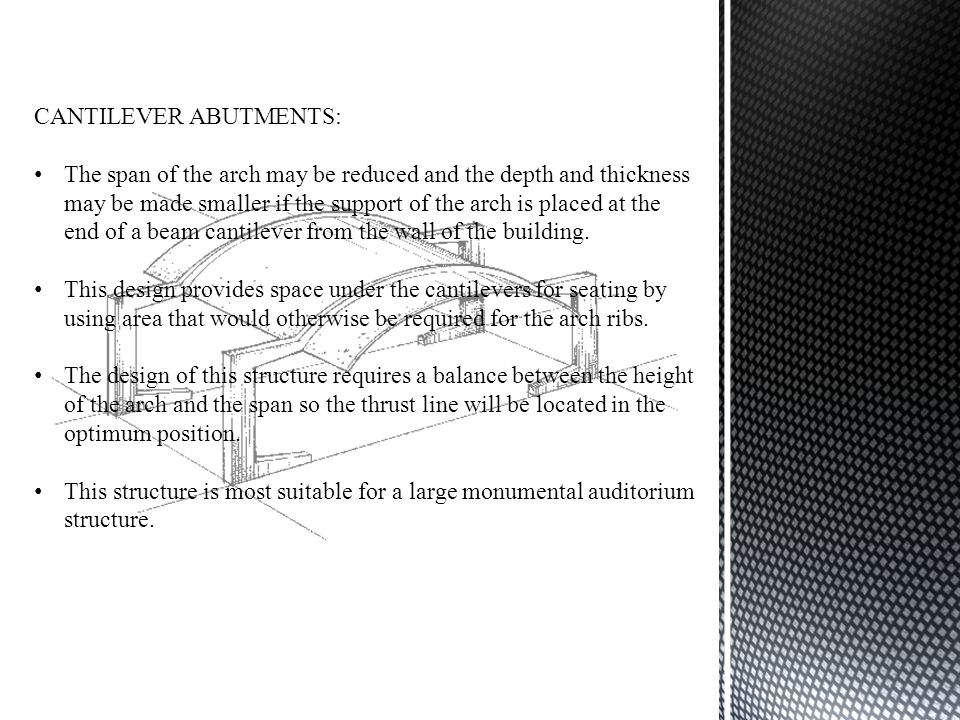 CANTILEVER ABUTMENTS: