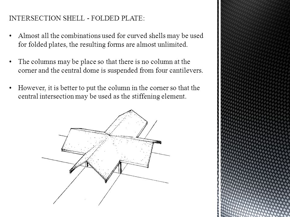 INTERSECTION SHELL - FOLDED PLATE: