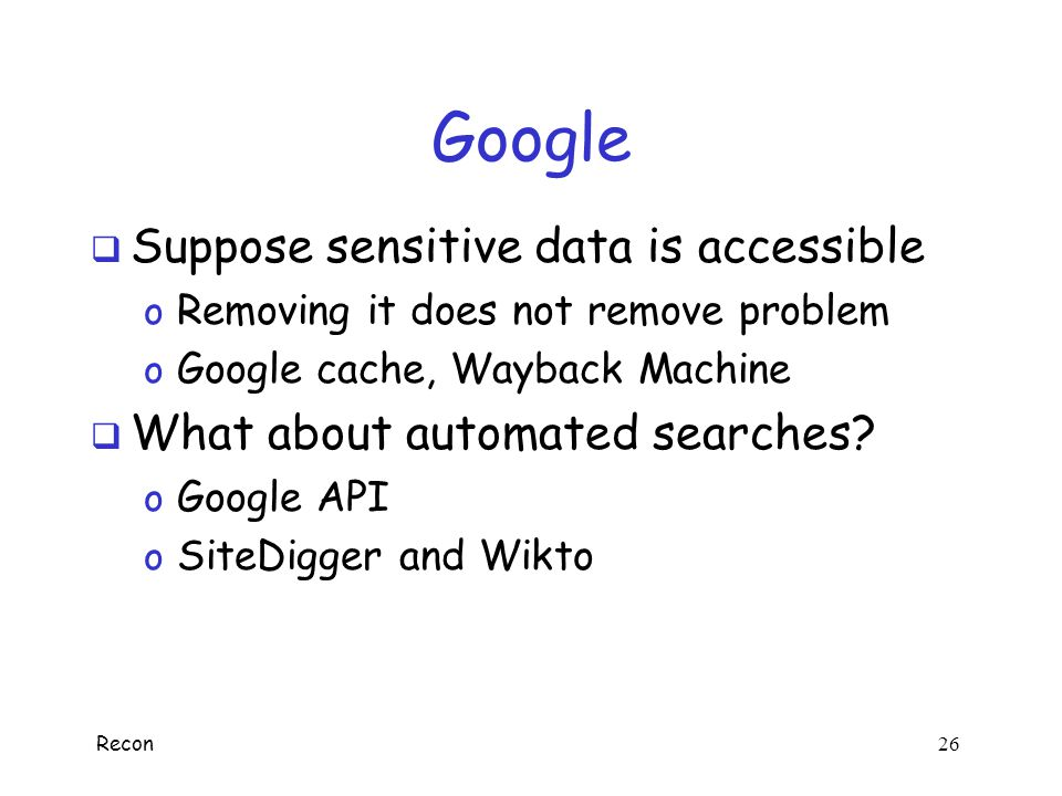 Google Suppose sensitive data is accessible