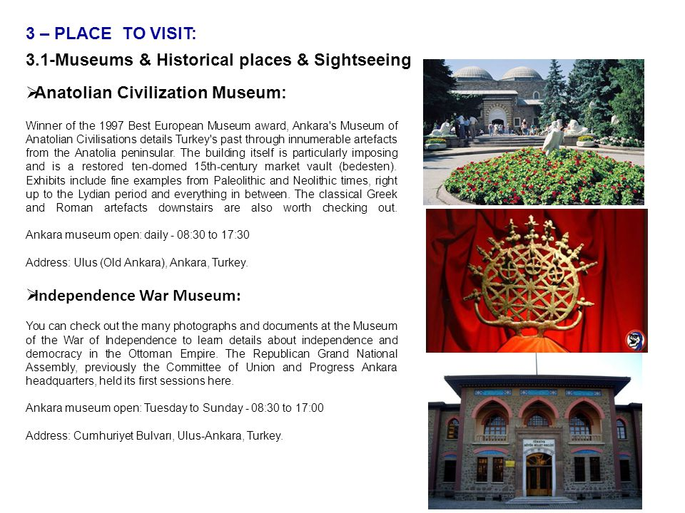 3.1-Museums & Historical places & Sightseeing