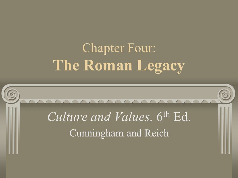 Chapter Four: The Roman Legacy