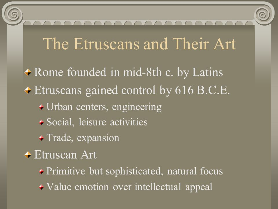 The Etruscans and Their Art