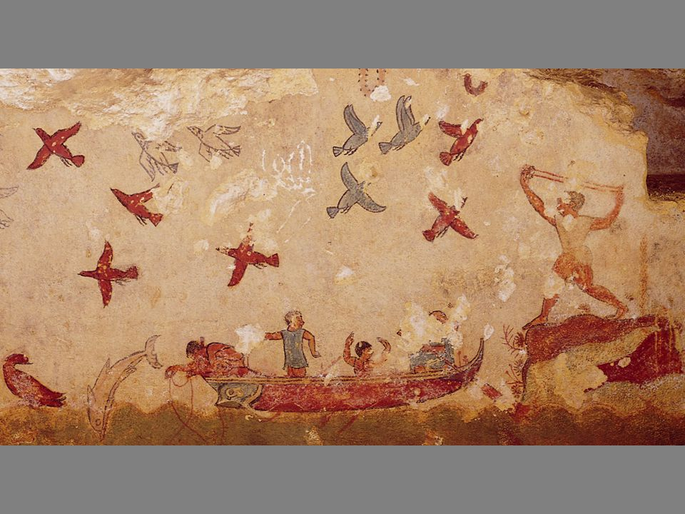 Wall painting from the Tomb of Hunting and Fishing