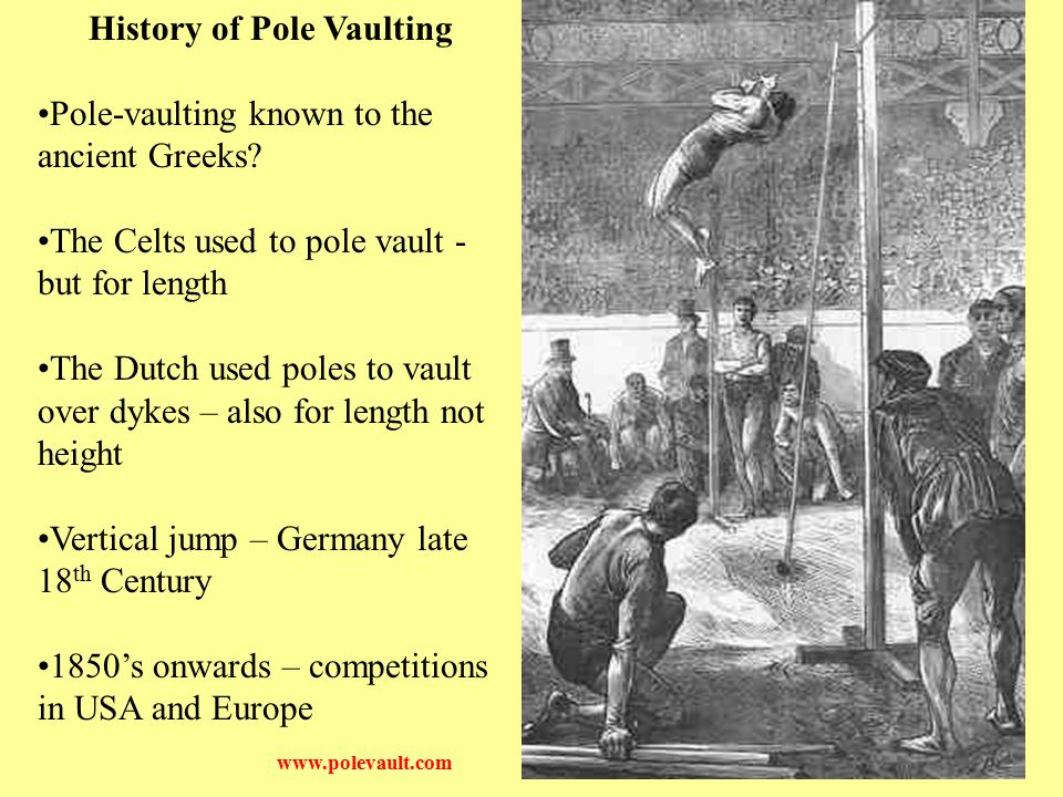 History of Pole Vaulting