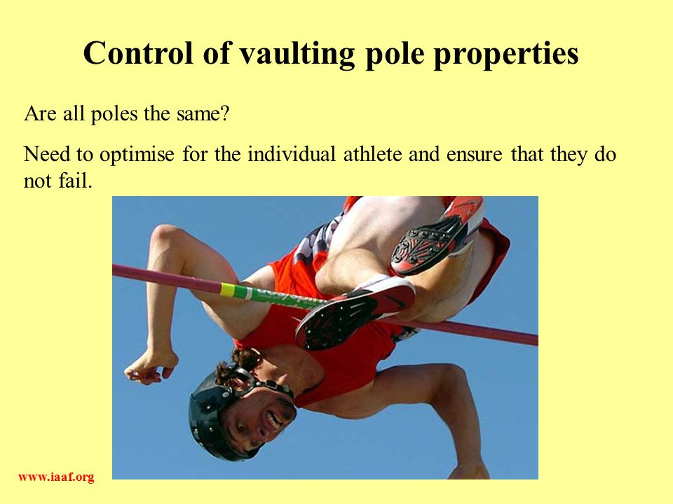 Control of vaulting pole properties
