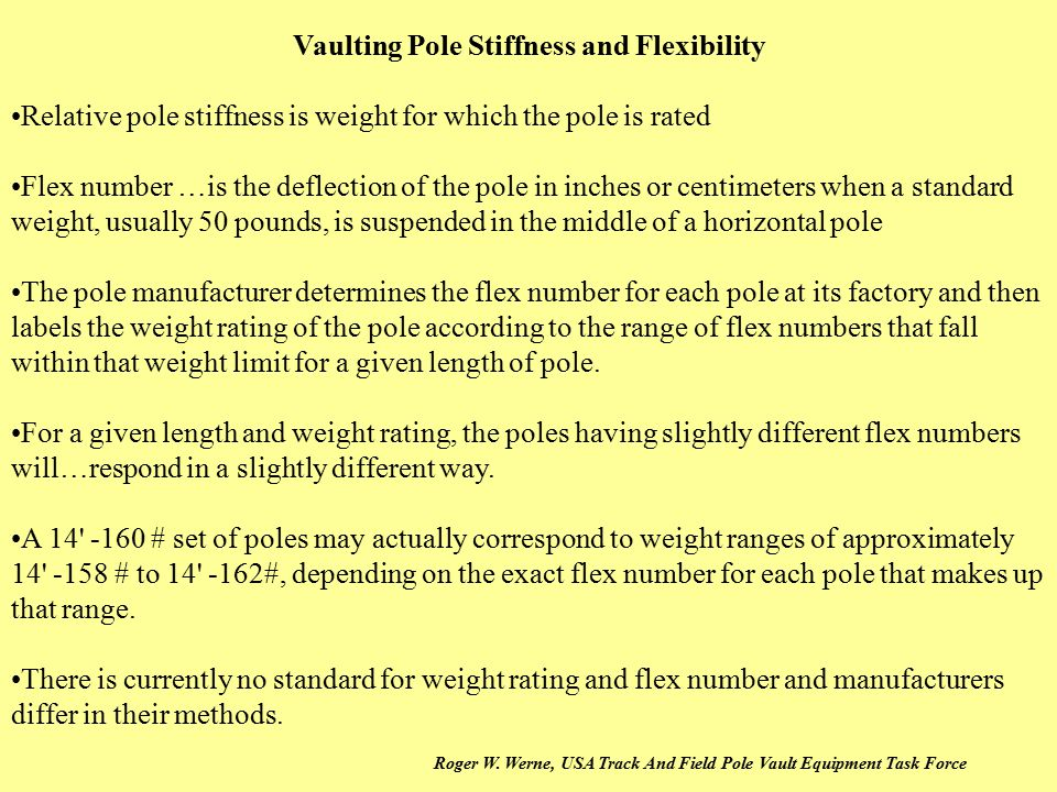 Vaulting Pole Stiffness and Flexibility