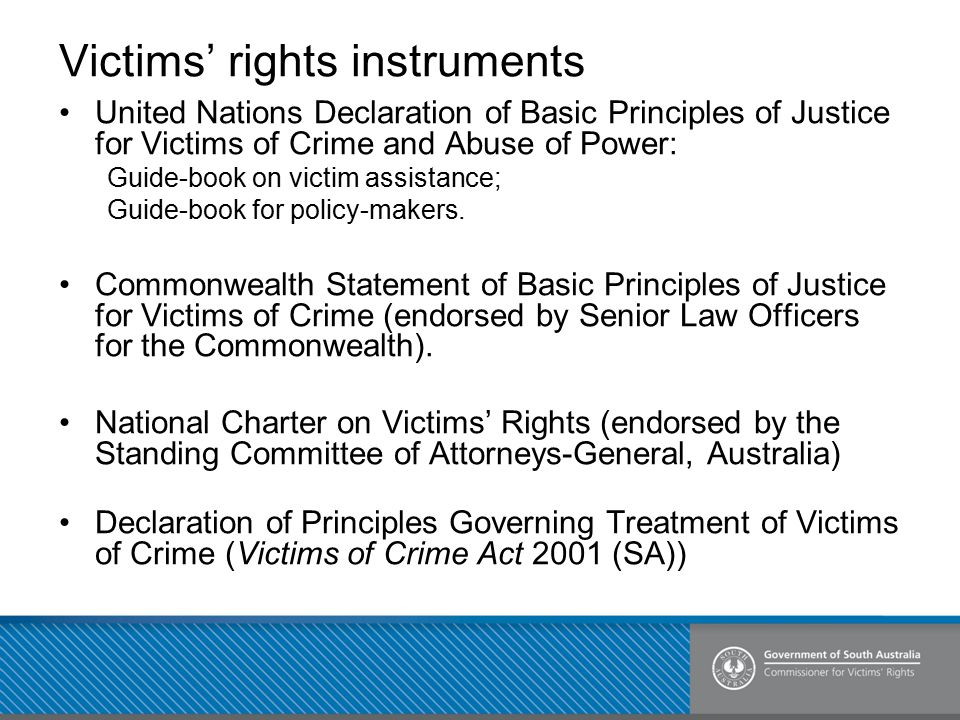 Victims' rights instruments