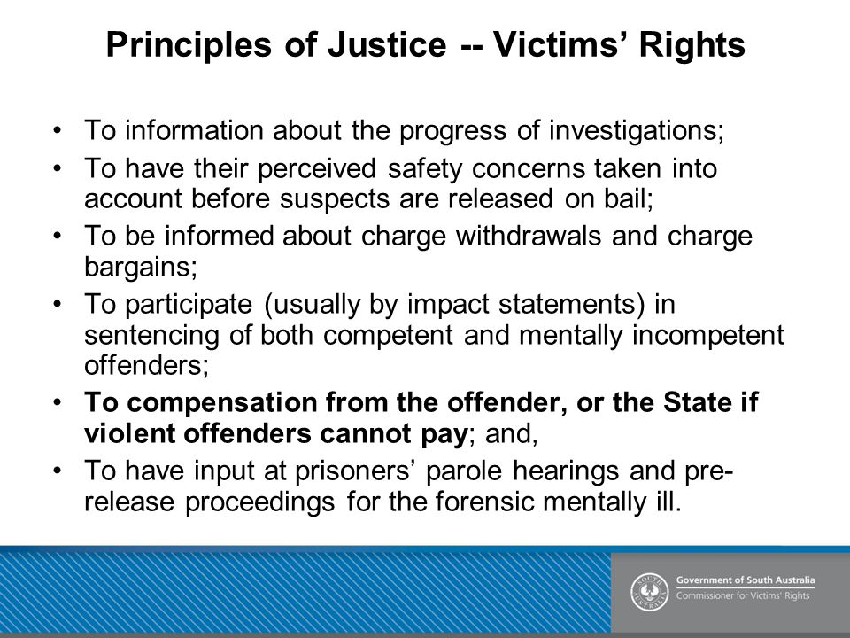 Principles of Justice -- Victims' Rights