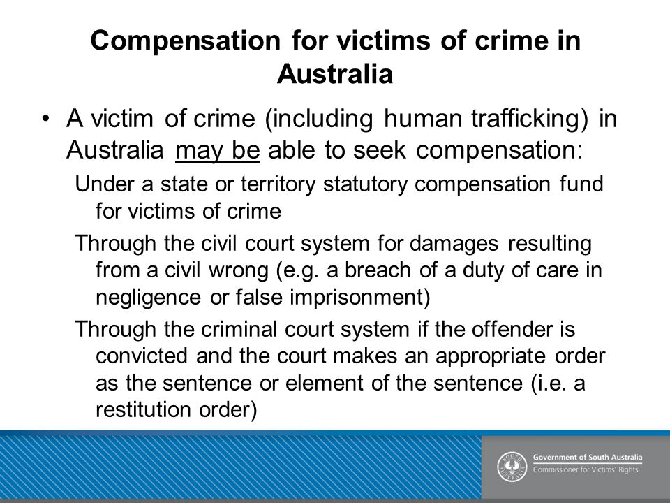 Compensation for victims of crime in Australia