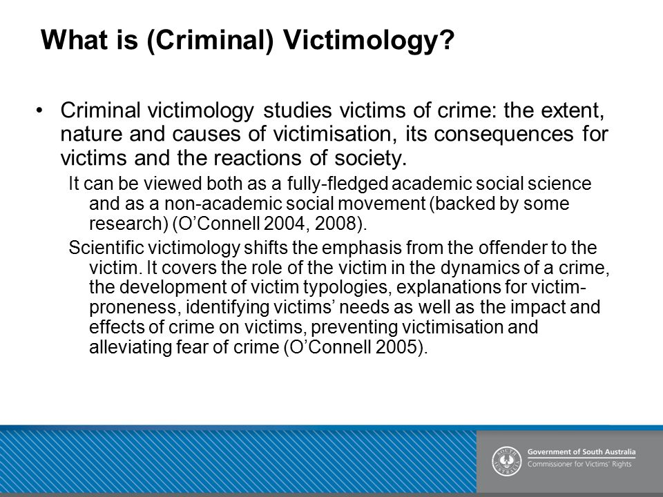 What is (Criminal) Victimology