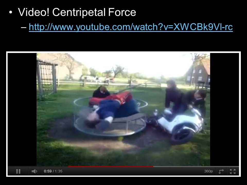 Video! Centripetal Force