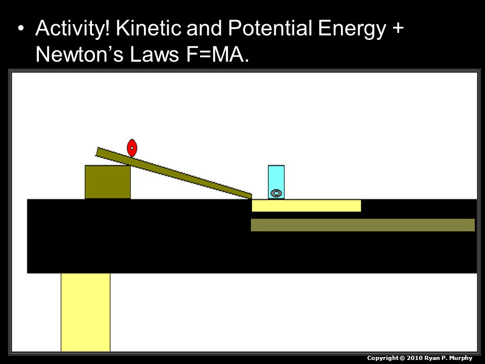 Activity! Kinetic and Potential Energy + Newton's Laws F=MA.