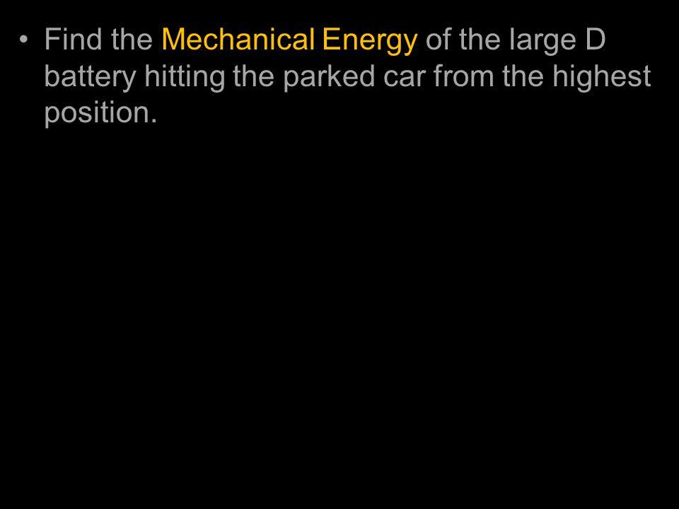 PE = mgh KE = ½ mass * velocity2