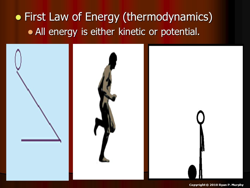 First Law of Energy (thermodynamics)