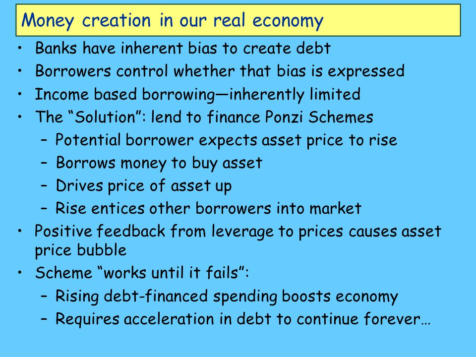 Money creation in our real economy