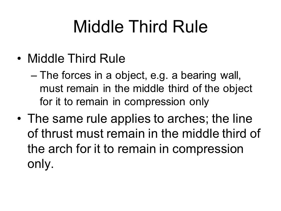 Middle Third Rule Middle Third Rule