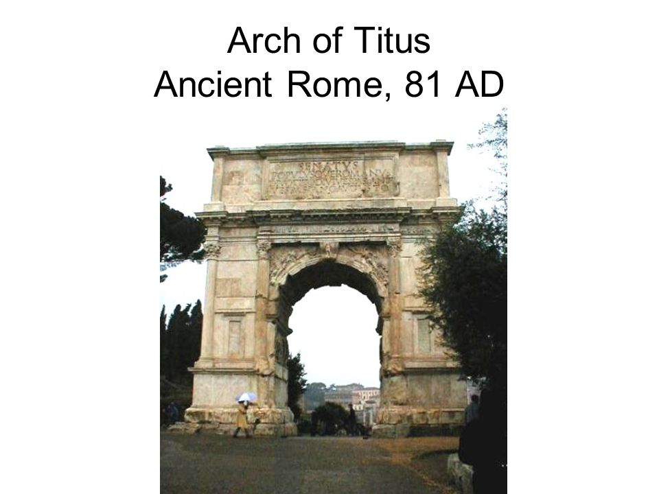 Arch of Titus Ancient Rome, 81 AD