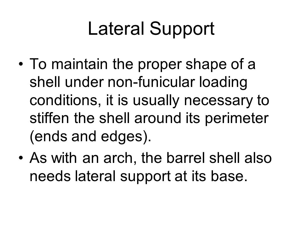 Lateral Support