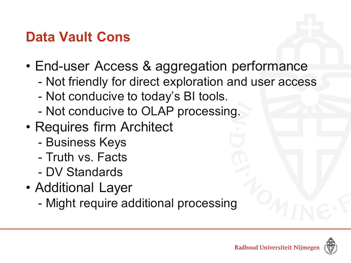 End-user Access & aggregation performance