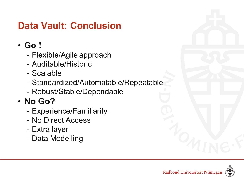 Data Vault: Conclusion