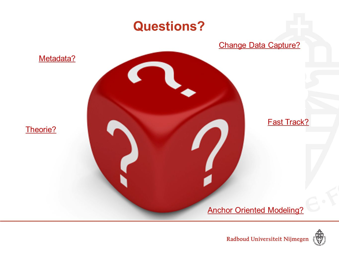 Questions Change Data Capture Metadata Fast Track Theorie