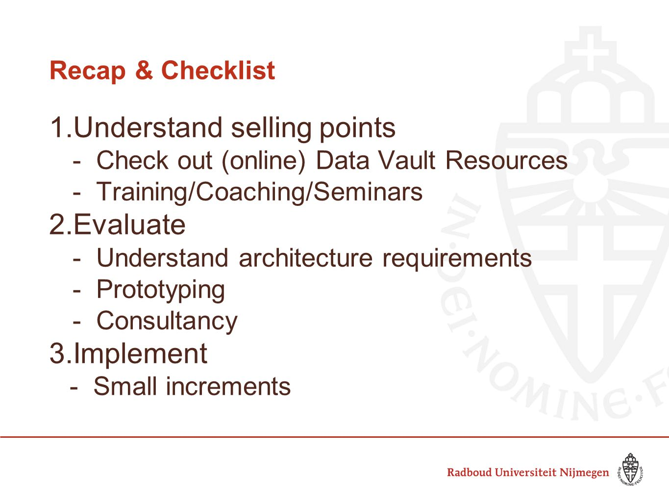 Understand selling points