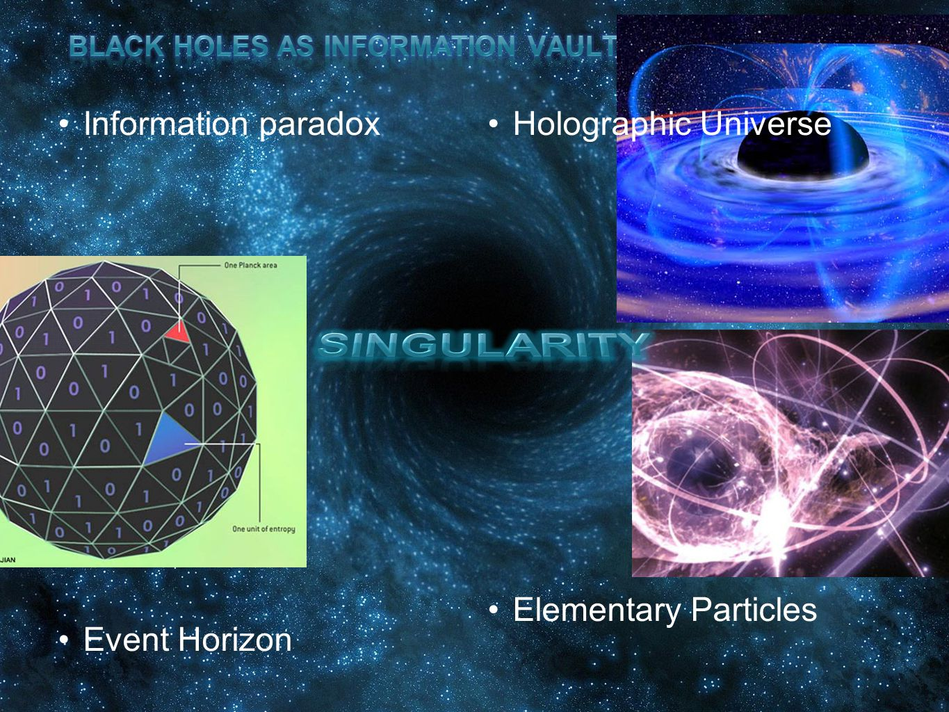 Black Holes as INFORMATION VAULTS