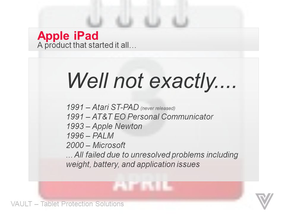 Well not exactly.... Apple iPad A product that started it all…