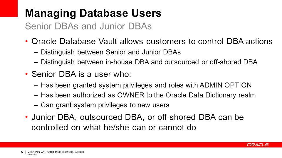 Managing Database Users