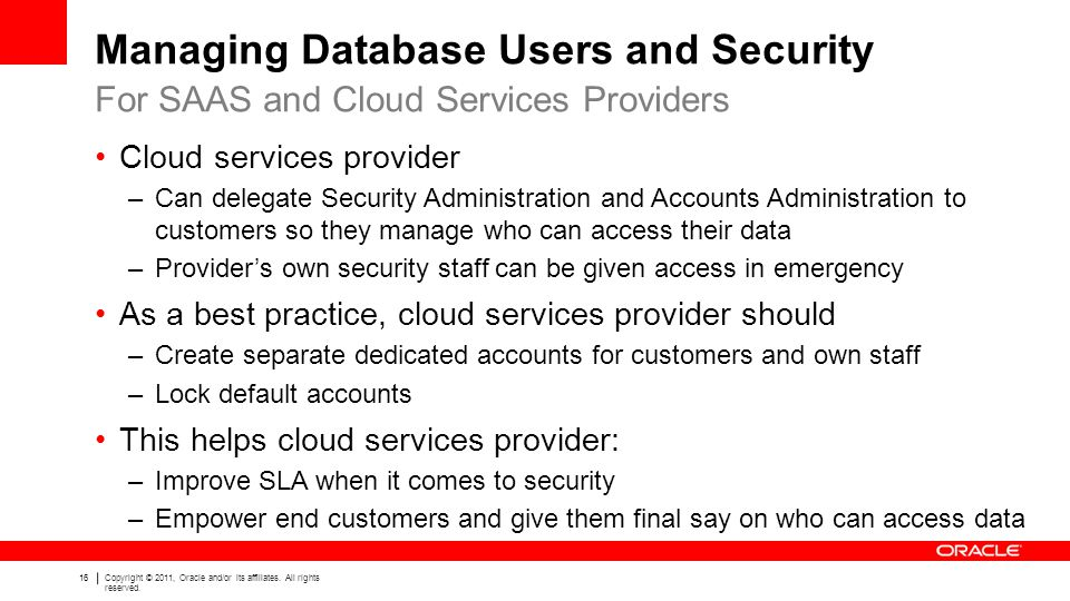 Managing Database Users and Security