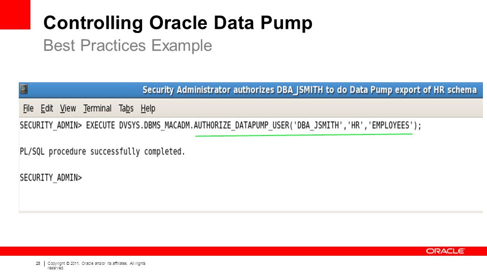Controlling Oracle Data Pump