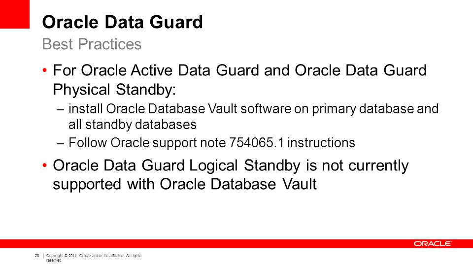 Oracle Data Guard Best Practices