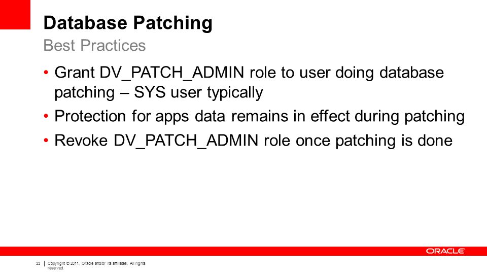 Database Patching Best Practices