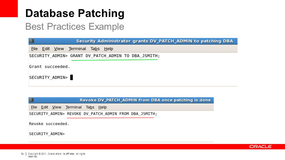 Database Patching Best Practices Example