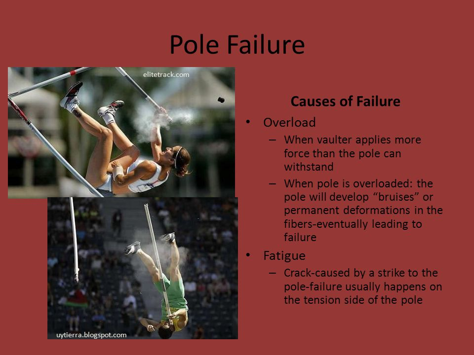 Pole Failure Causes of Failure Overload Fatigue