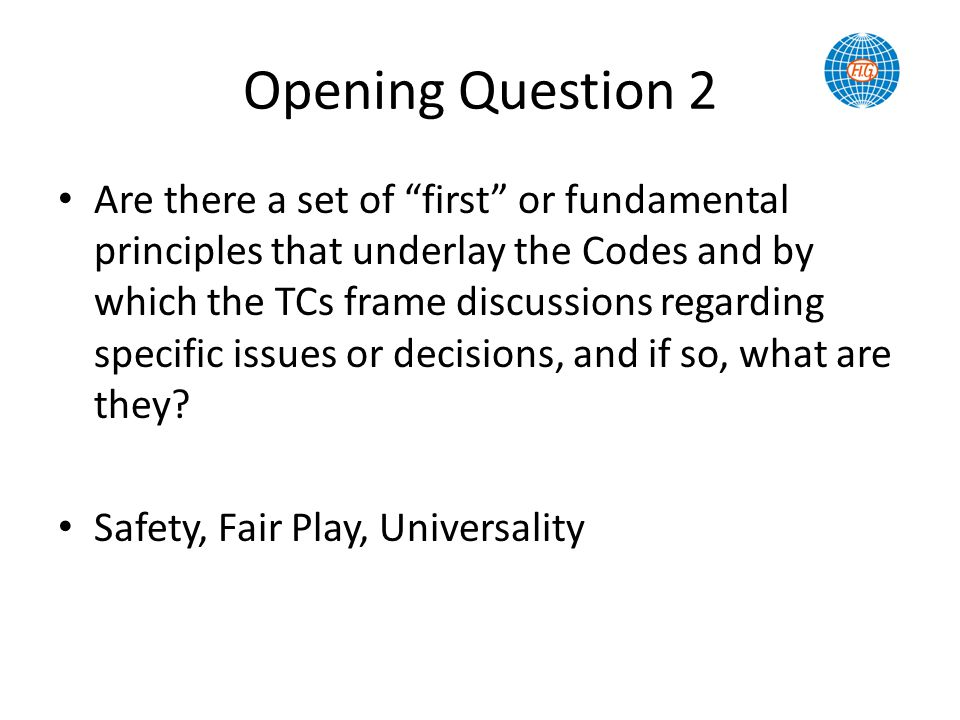 Opening Question 2