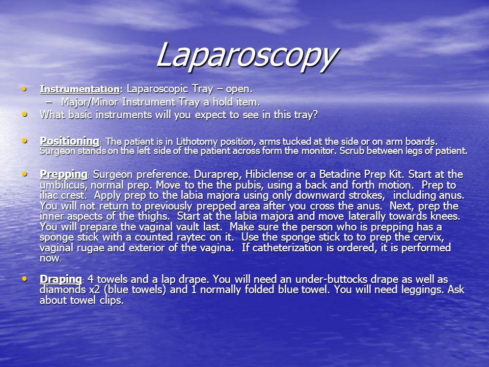 Laparoscopy Major/Minor Instrument Tray a hold item.