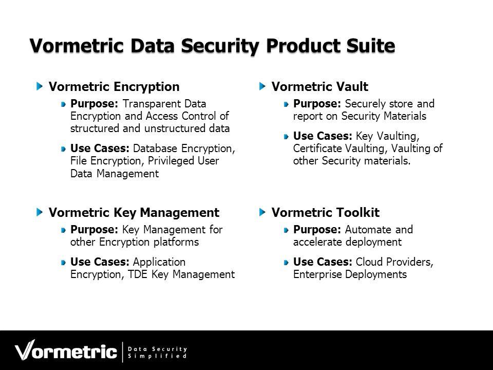 Vormetric Data Security Product Suite