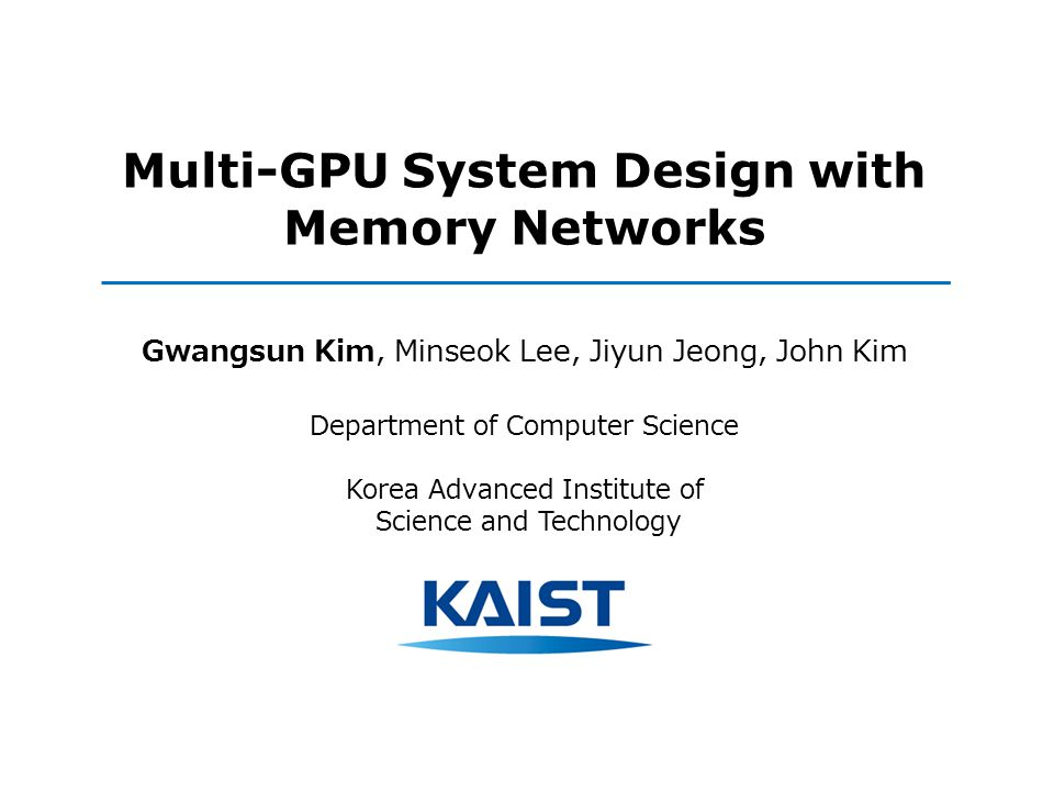 Multi-GPU System Design with Memory Networks