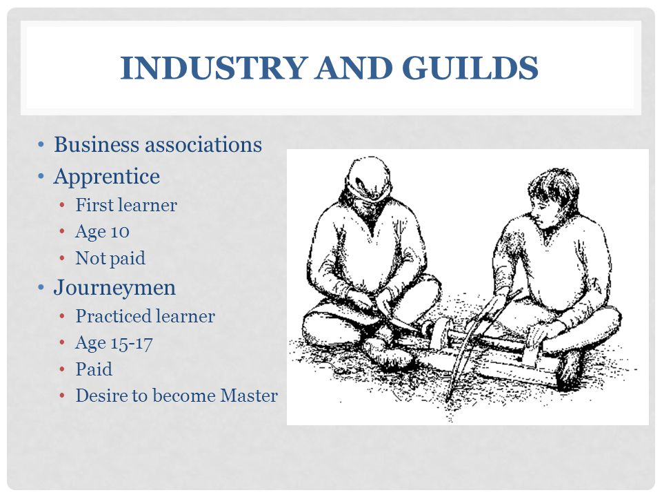 Industry and Guilds Business associations Apprentice Journeymen