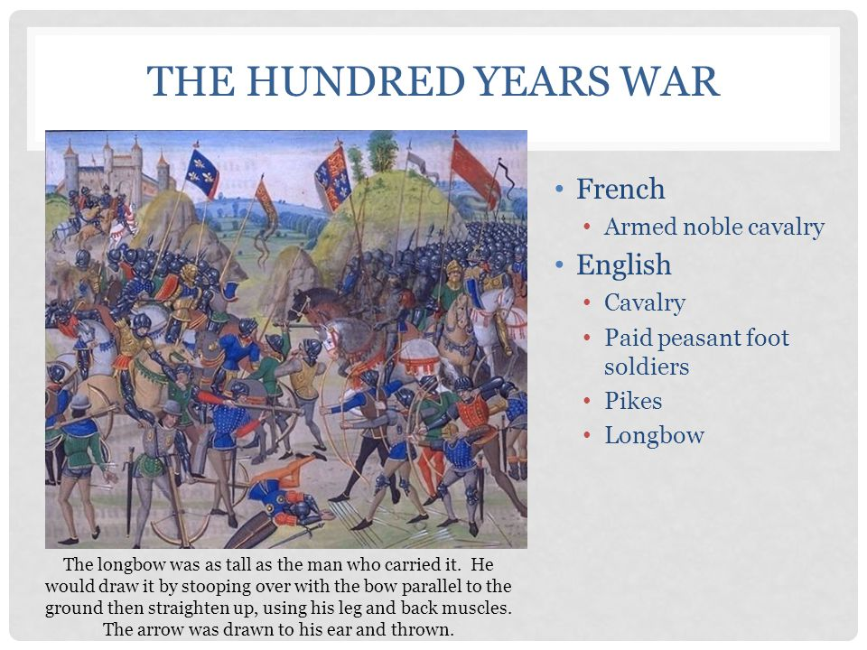 The Hundred Years War French English Armed noble cavalry Cavalry