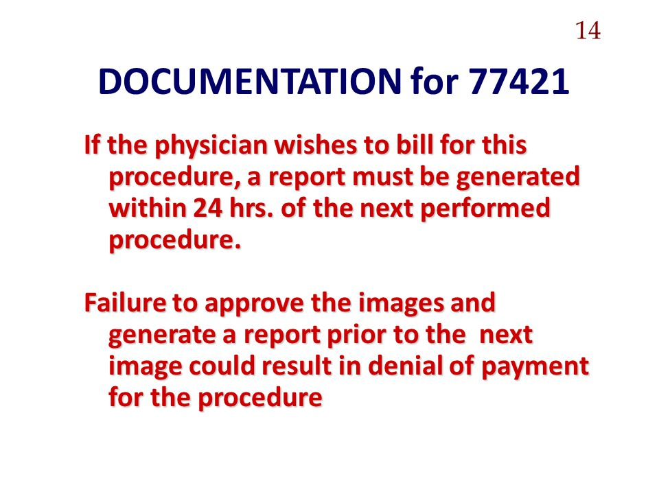 14 DOCUMENTATION for 77421.