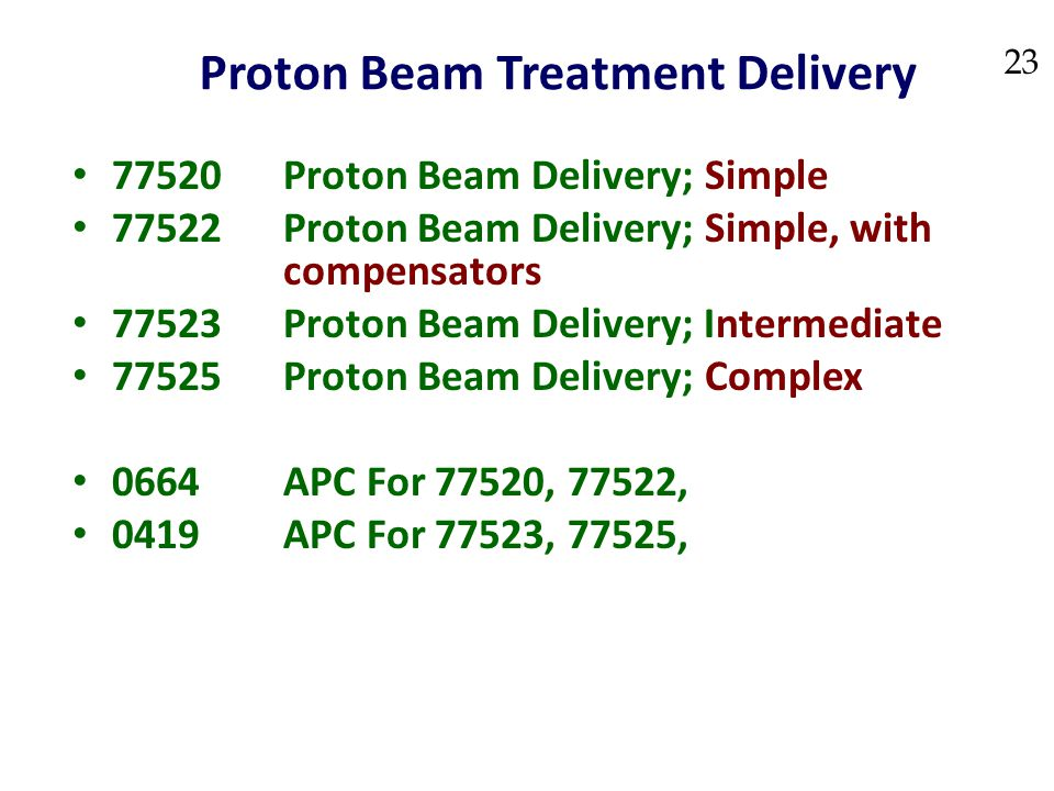 Proton Beam Treatment Delivery