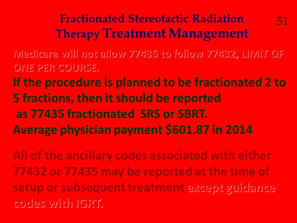 Fractionated Stereotactic Radiation Therapy Treatment Management