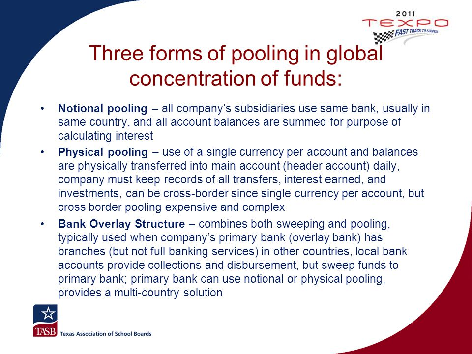 Three forms of pooling in global concentration of funds: