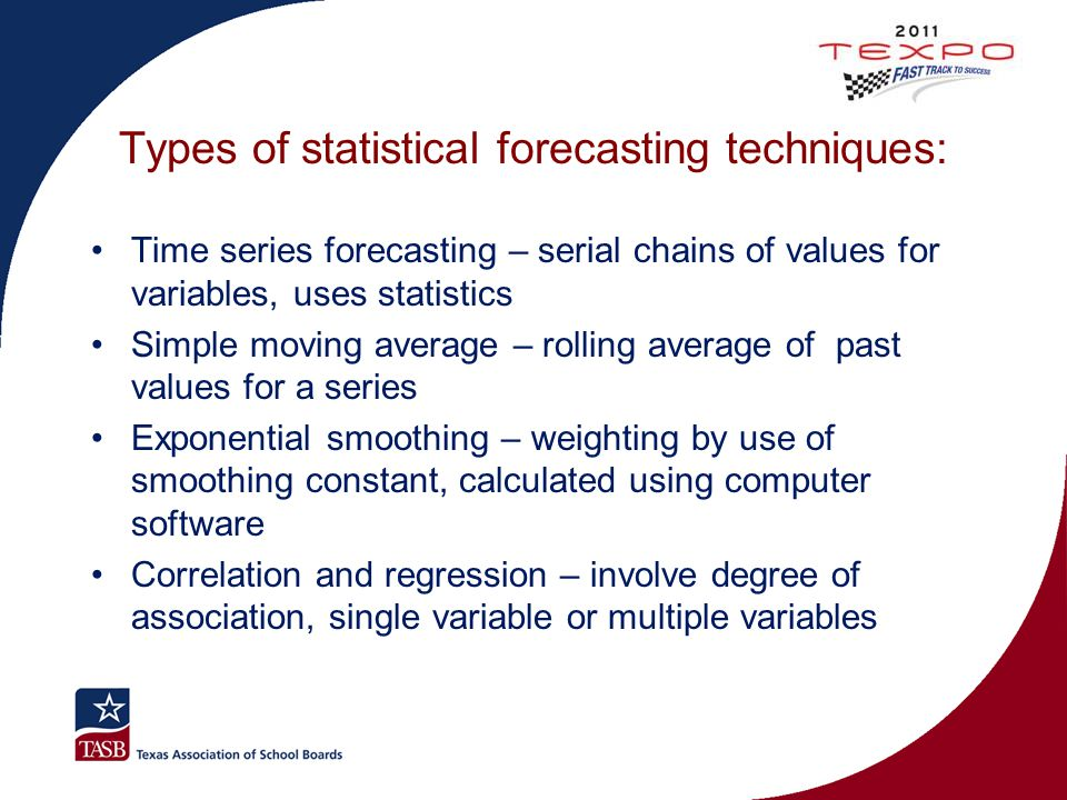 Types of statistical forecasting techniques: