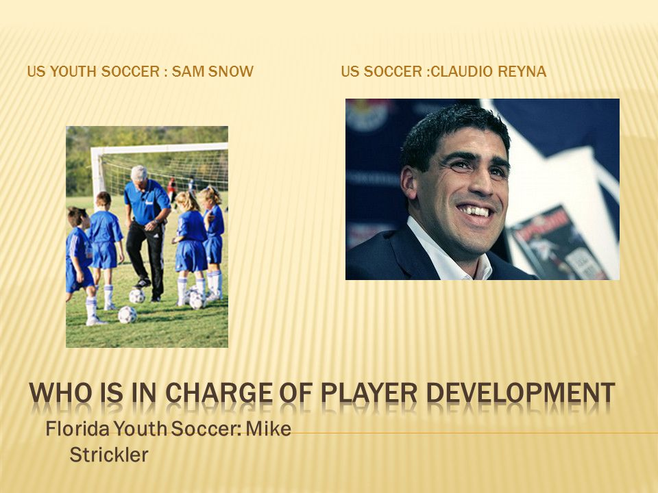 Who is in charge of player development