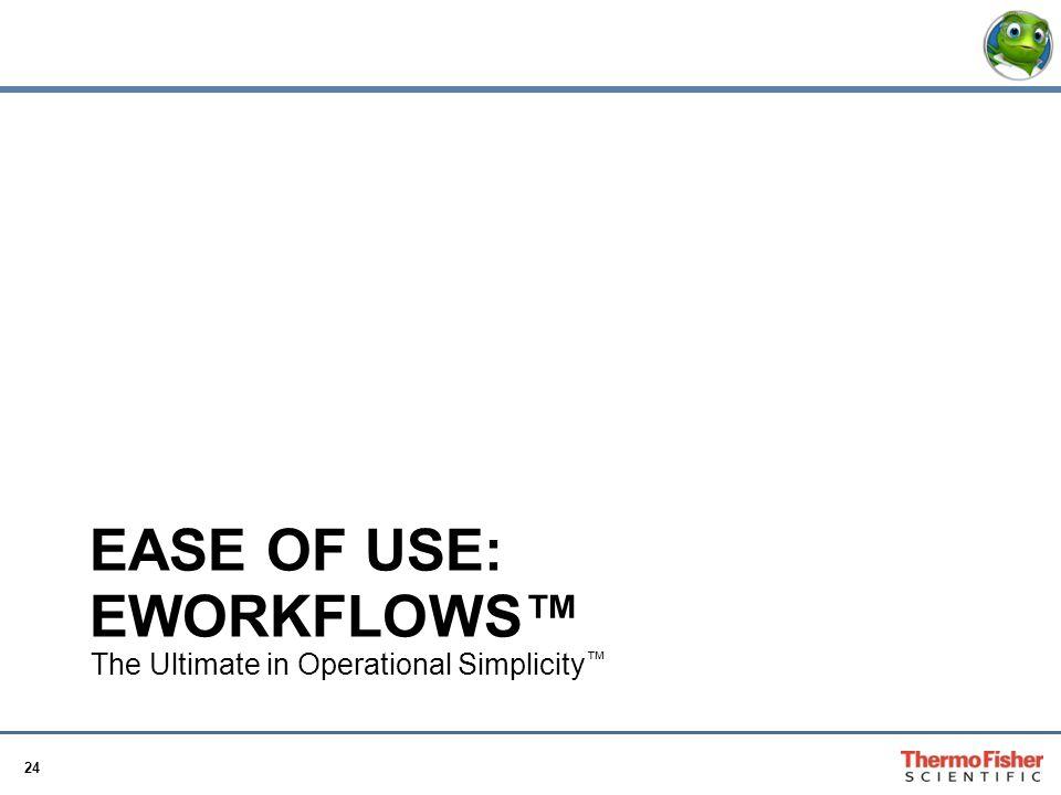 Ease of use: eWorkflows™