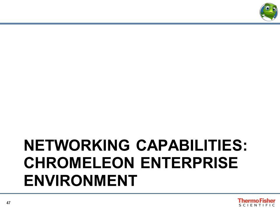 Networking Capabilities: Chromeleon Enterprise Environment